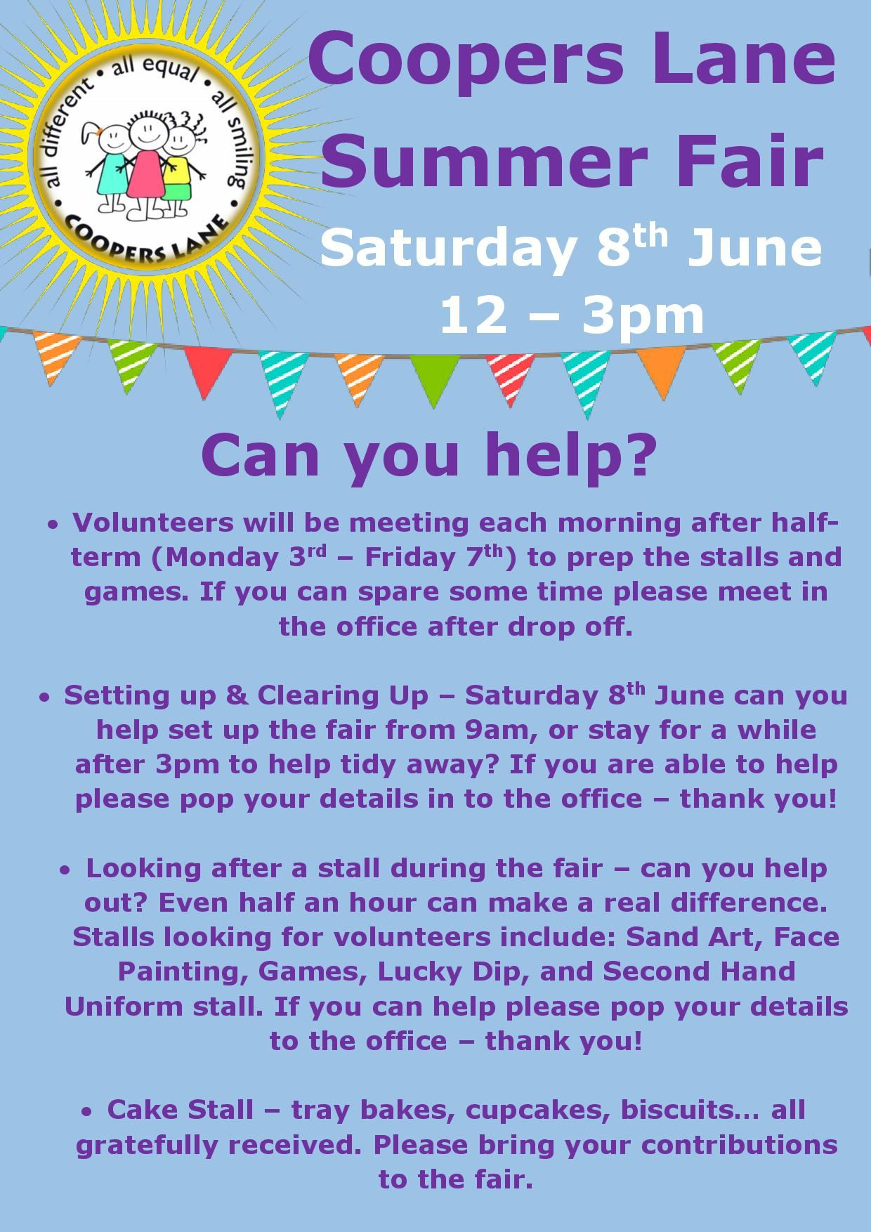 Call for Volunteers Coopers Lane Summer Fair-page-001
