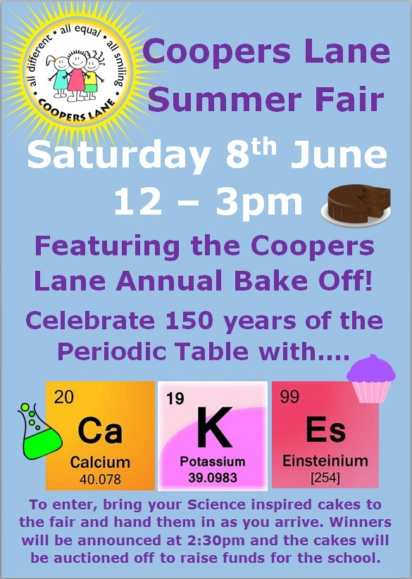 Summer Fayre Bake Off Website